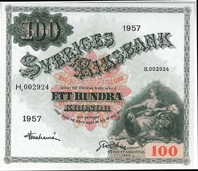 gamla sedlar 100